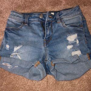 Pac Sun light wash summer shorts